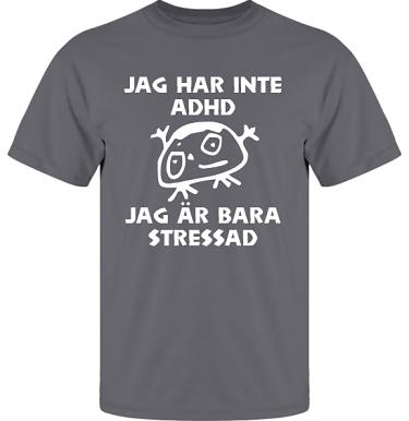 T-shirt UltraCotton Blyertsgrå/Vitt tryck  i kategori Blandat: Stressad