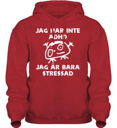 Hood HeavyBlend Röd/Vitt tryck i kategori Blandat: Stressad