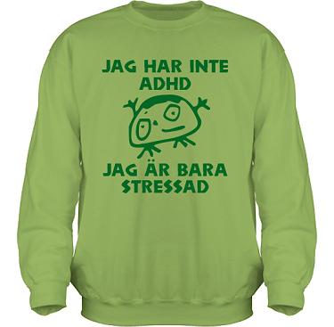 Sweatshirt HeavyBlend Kiwi/Grönt tryck i kategori Blandat: Stressad