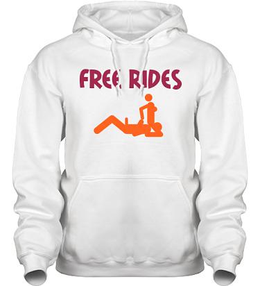 Hood HeavyBlend Vit/Vinrött och orange tryck i kategori Sexxx: Free Rides