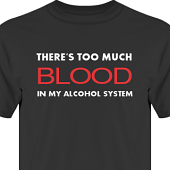 T-shirt, Hoodie i kategori Alkohol: Too much blood