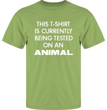 T-shirt UltraCotton Kiwi/Vitt tryck i kategori Attityd: Testing