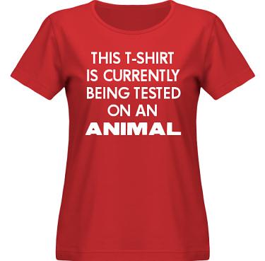 T-shirt SouthWest Dam Röd/Vitt tryck i kategori Attityd: Testing