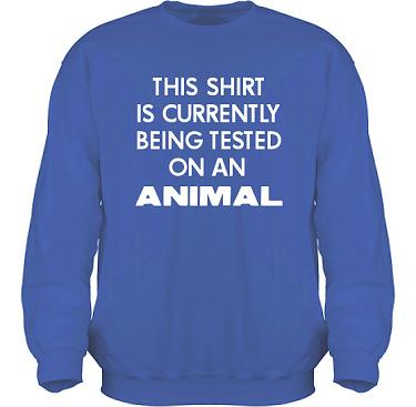 Sweatshirt HeavyBlend Royalblå/Vitt tryck i kategori Attityd: Testing
