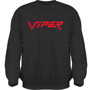 Sweatshirt HeavyBlend Svart/Rött tryck i kategori Motor: Viper