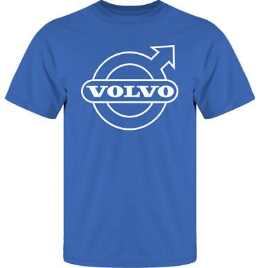 T-shirt UltraCotton Royalblå/Vitt tryck i kategori Motor: Volvo