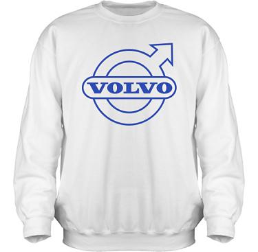 Sweatshirt HeavyBlend Vit/Royalblått tryck i kategori Motor: Volvo