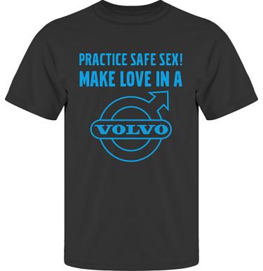 T-shirt UltraCotton Svart/Blått tryck  i kategori Motor: Volvo Safe Sex