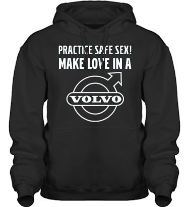 Hood HeavyBlend Svart/Vitt tryck i kategori Motor: Volvo Safe Sex