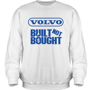 Sweatshirt HeavyBlend Vit/Royalblått tryck i kategori Motor: Volvo Built Not Bought