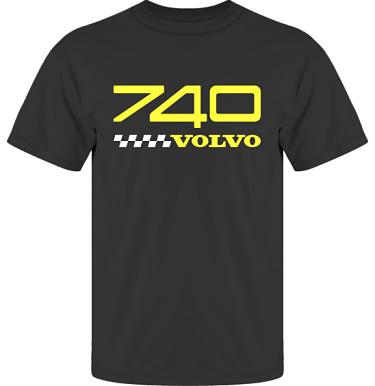 T-shirt UltraCotton Svart/Gult tryck i kategori Motor: Volvo 740