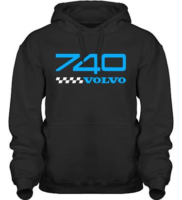 Hood HeavyBlend Svart/Blått tryck i kategori Motor: Volvo 740