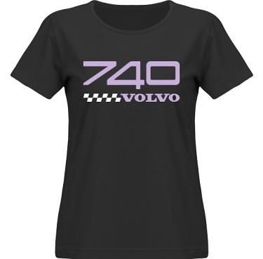 T-shirt SouthWest Dam Svart/Lila tryck i kategori Motor: Volvo 740