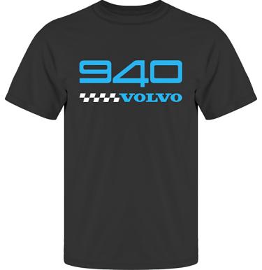 T-shirt UltraCotton Svart/Blått tryck i kategori Motor: Volvo 940