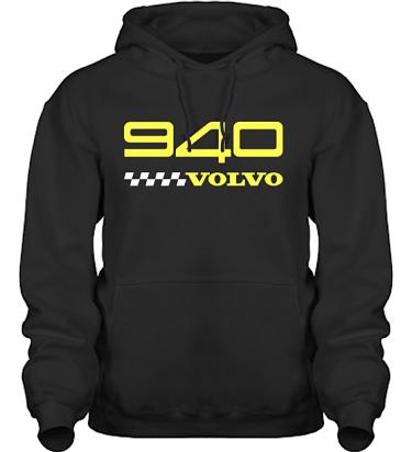 Hood HeavyBlend Svart/Gult tryck i kategori Motor: Volvo 940