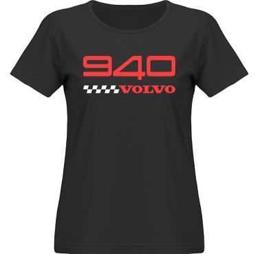 T-shirt SouthWest Dam Svart/Rött tryck i kategori Motor: Volvo 940