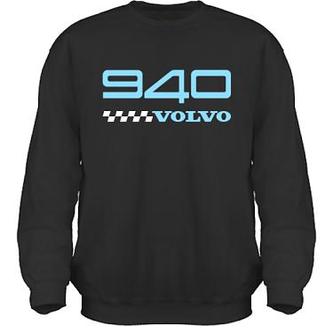 Sweatshirt HeavyBlend Svart/Ljusblått tryck i kategori Motor: Volvo 940