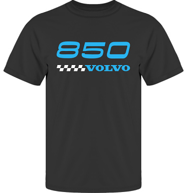 T-shirt UltraCotton Svart/Blått tryck i kategori Motor: Volvo 850