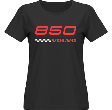 T-shirt SouthWest Dam Svart/Rött tryck i kategori Motor: Volvo 850