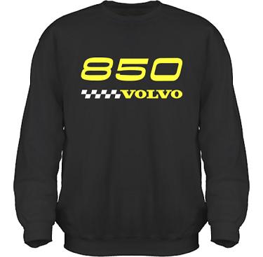 Sweatshirt HeavyBlend Svart/Gult tryck i kategori Motor: Volvo 850