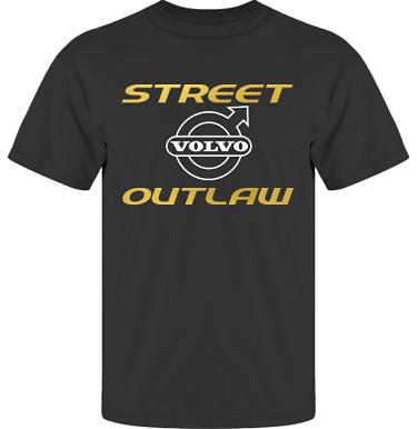 T-shirt UltraCotton Svart/Guldfärgat och vitt tryck i kategori Motor: Volvo Street Outlaw