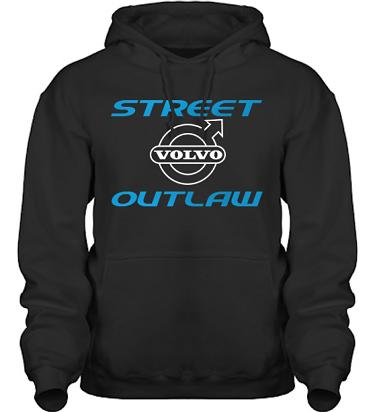 Hood HeavyBlend Svart/Blått och vitt tryck i kategori Motor: Volvo Street Outlaw