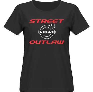 T-shirt SouthWest Dam Svart/Rött och vitt tryck i kategori Motor: Volvo Street Outlaw