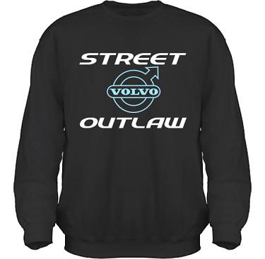 Sweatshirt HeavyBlend Svart/Vitt och ljusblått tryck i kategori Motor: Volvo Street Outlaw