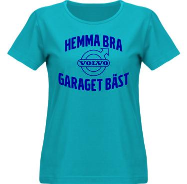 T-shirt SouthWest Dam Aqua/Royalblått tryck i kategori Motor: Volvo Garaget bäst