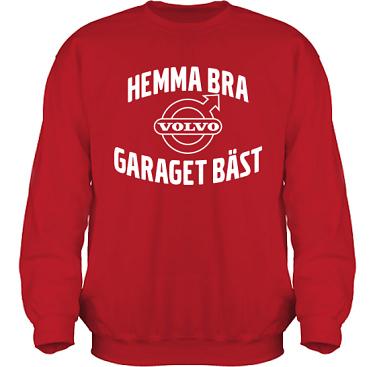 Sweatshirt HeavyBlend Röd/Vitt tryck i kategori Motor: Volvo Garaget bäst