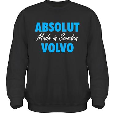 Sweatshirt HeavyBlend Svart/Blått tryck i kategori Motor: Absolut Volvo