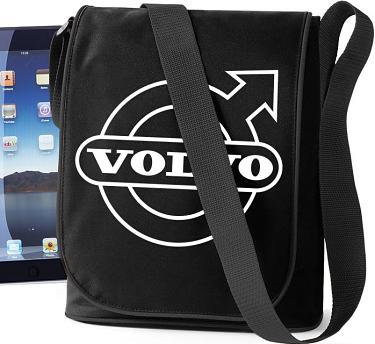iPad-väska Volvo Svart/Vitt tryck i kategori Motor: iPad-väska Volvo