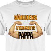 T-shirt, Hoodie i kategori Familj/Kärlek: Världens starkaste pappa