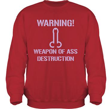 Sweatshirt HeavyBlend Röd/Lila tryck i kategori Sexxx: Warning