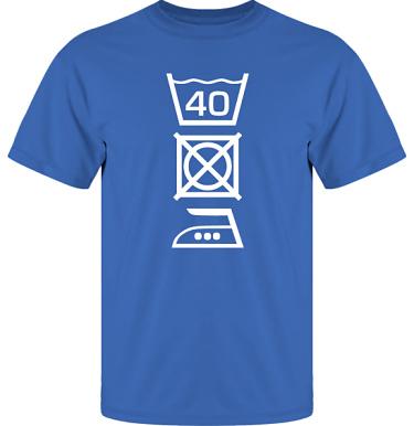 T-shirt UltraCotton Royalblå/Vitt tryck i kategori Blandat: Tvättråd