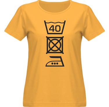 T-shirt SouthWest Dam Gul/Svart tryck i kategori Blandat: Tvättråd