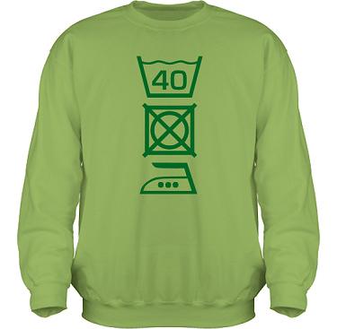 Sweatshirt HeavyBlend Kiwi/Grönt tryck i kategori Blandat: Tvättråd