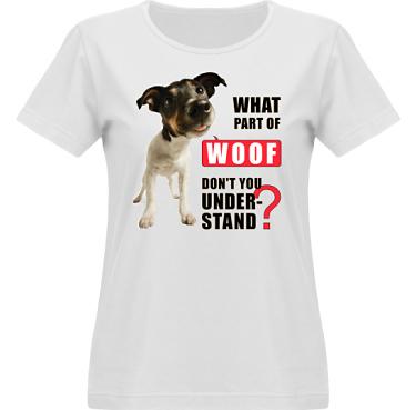 T-shirt Vapor Dam  i kategori Attityd: Woof