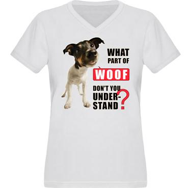 T-shirt XP522 Dam i kategori Attityd: Woof