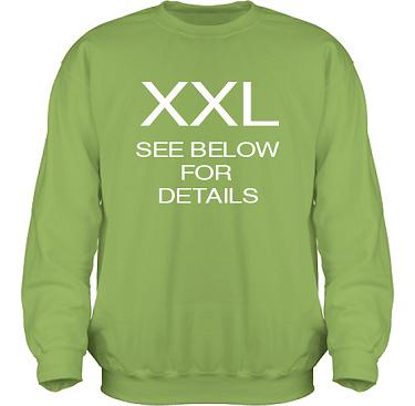Sweatshirt HeavyBlend Kiwi/Vitt tryck i kategori Sexxx: See below