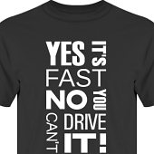 T-shirt, Hoodie i kategori Motor: Yes its fast