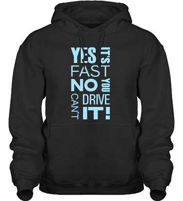 Hood HeavyBlend Svart/Ljusblått tryck i kategori Motor: Yes its fast