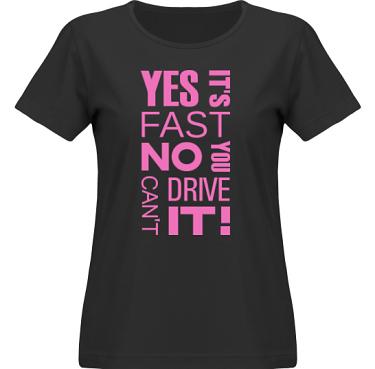 T-shirt SouthWest Dam Svart/Cerise tryck i kategori Motor: Yes its fast