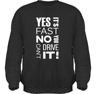 Sweatshirt HeavyBlend Svart/Vitt tryck i kategori Motor: Yes its fast
