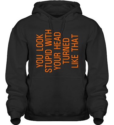 Hood HeavyBlend Svart/Orange tryck  i kategori Kropp: You look stupid