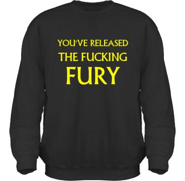 Sweatshirt HeavyBlend Svart/Gult tryck i kategori Musik-Hårdrock: Released the fury