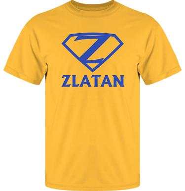 T-shirt UltraCotton Gul/Royalblått tryck  i kategori Blandat: Zlatan